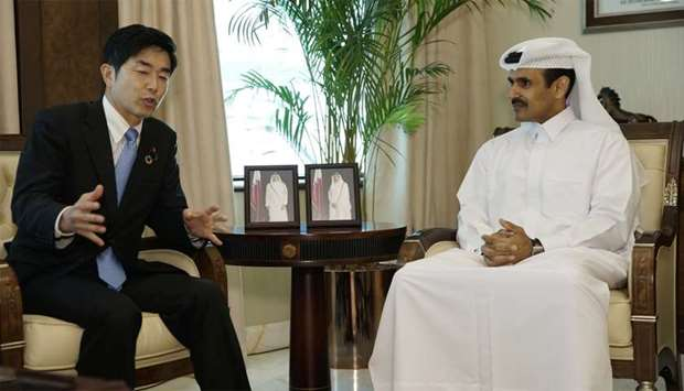 Al-Kaabi meets with Japanese trade minister