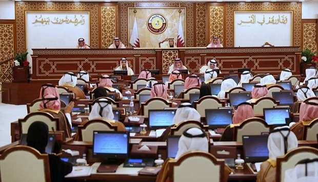 The Shura Council meets under the chairmanship of HE the Speaker Ahmed bin Abdullah bin Zaid Al Mahm