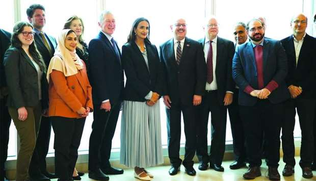 Qatar Foundation vice chairperson and CEO HE Sheikha Hind bint Hamad al-Thani during her visit to Ca