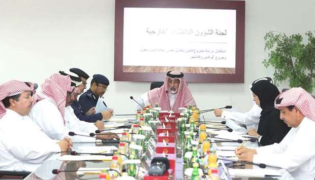 The Internal and External Affairs Committee of the Shura Council meeting is chaired by its Rapporteu