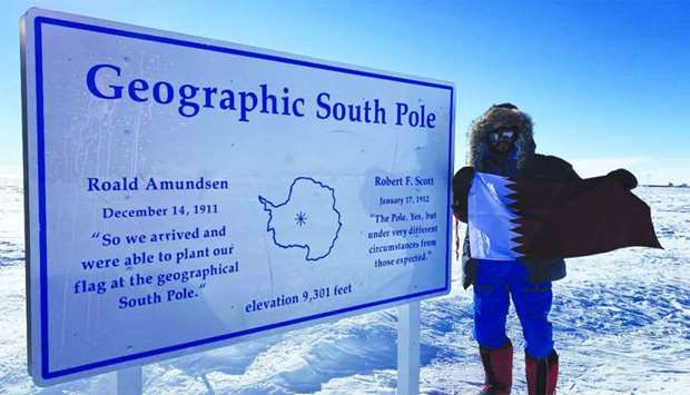 Fahad Badar at the South Pole.