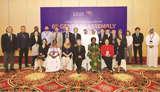 Officials with participants in the event.