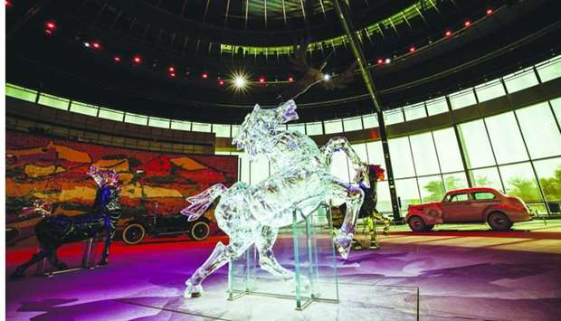 M F Husain's Seeroo fi al Ardh art installation at Qatar Foundation's Education City, is opening to