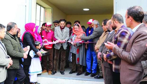 QRCS provides modern heating system at Kabul asylum - Officials at the opening ceremony.