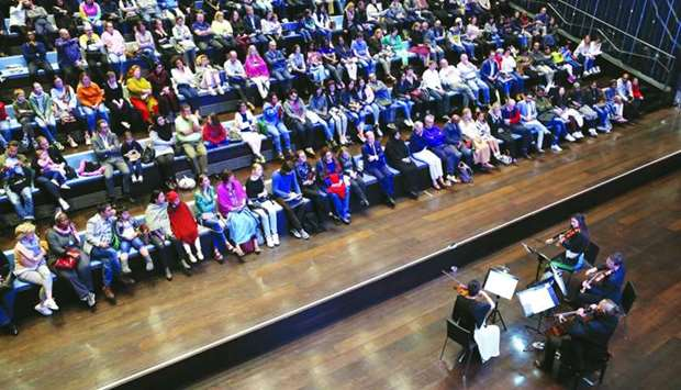 The 'Philharmonic at the library' event at Qatar National Library.
