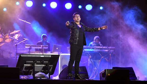 ENTHRALLED: Sonu Nigam himself appreciated the spirit and love the audience showed for Bollywood mus