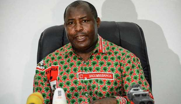 In this file photo taken on May 22, 2018 The secretary general of the Burundi's ruling party CNDD-FD