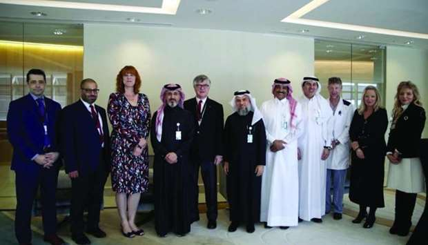 Canadian ambassador Stefanie McCollum and officials of Sidra Medicine and Royal College Internationa