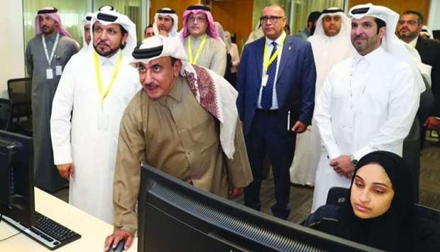 HE the Minister of Transport and Communications Jassim Seif Ahmed al-Sulaiti, along with QIXP Commit