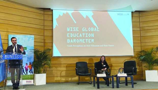 The Global Education Barometer was presented by WISE at UNESCO's International Day of Education in P