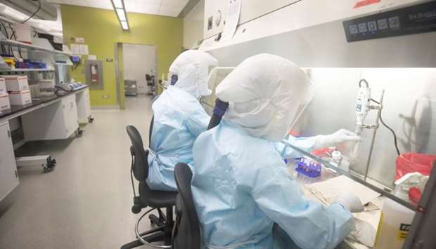 Scientists work in VIDO-InterVac's (Vaccine and Infectious Disease Organization-International Vaccin