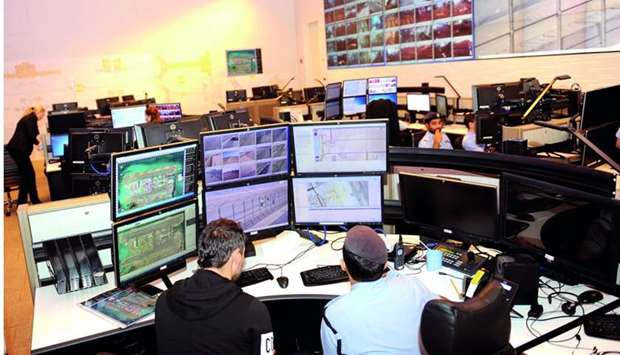 The operation room at HIA where round-the-clock surveillance is carried out.