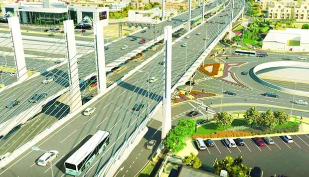The cable-stayed bridge will span 1,200m.