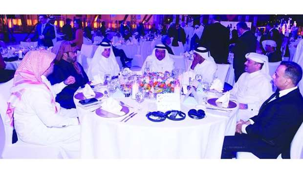 HE Sheikh Faisal bin Qassim al-Thani, HE Akbar al-Baker and other dignitaries at opening ceremony of