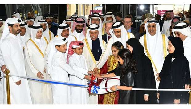 HE the Minister of Culture and Sports Salah bin Ghanem Al Ali inaugurates Doha International Book Fa