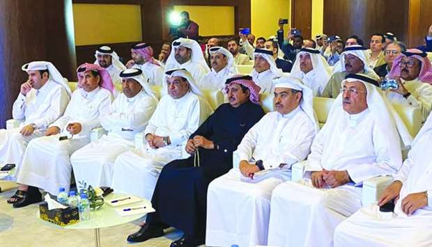 HE al-Kuwari and Sheikh Khalifa among dignitaries present during the the announcement of the digital