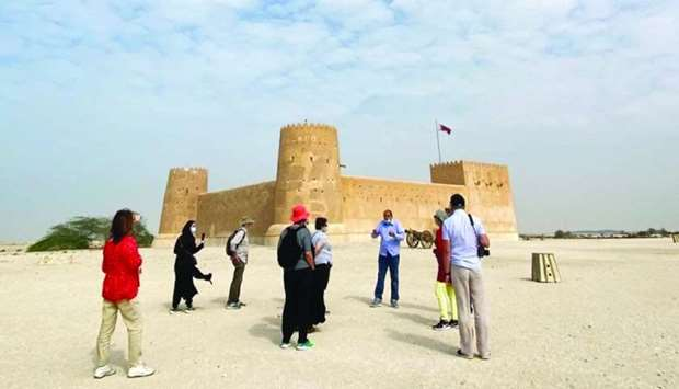 Atharna kicked off on January 2 with a tour to Al Zubarah