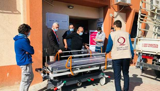 Qatar Charity provides medical equipment for hospitals in Palestine
