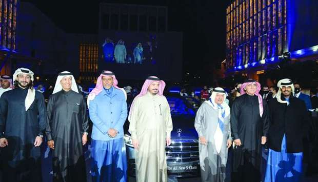 The S-Class launch was attended by Sheikh Nawaf Nasser bin Khaled al-Thani, Sheikh Faleh bin Nawaf a