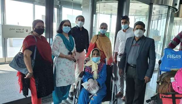 A wheelchair-bound patient was repatriated recently by Punarjani Qatar.