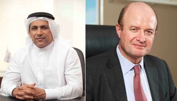 Abdul Hakeem Mostafawi, HSBC CEO in Qatar and Martin Tricaud, HSBC Group CEO for Middle East, North