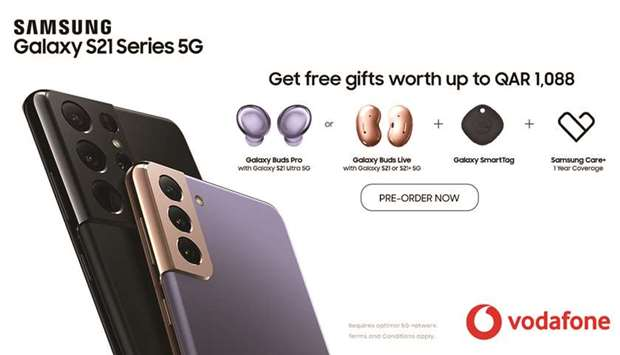 Vodafone offers QR1,000 worth of gifts on pre-ordering S21 5G