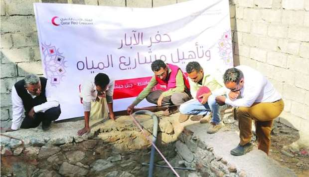 QRCS launches new water project in Yemen