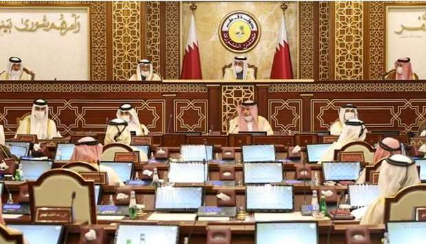 The Shura Council being held under the chairmanship of HE the Speaker Ahmed bin Abdullah bin Zaid Al