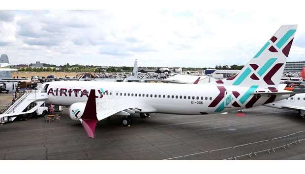 An Air Italy Boeing 737-8 Max aircraft