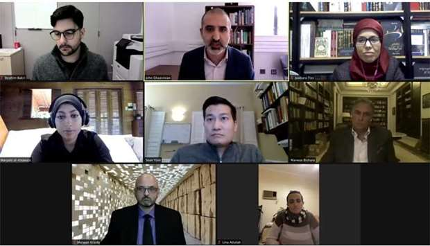 A screenshot of the panellists at the webinar.