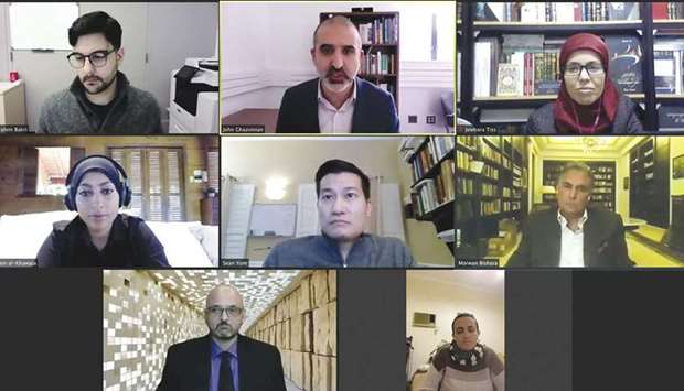 panellists at the webinar.