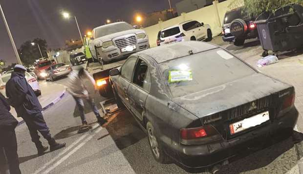 53 abandoned vehicles removed in Doha