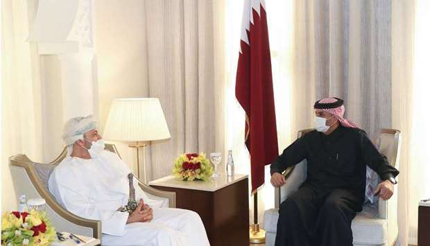 HE the Prime Minister and Minister of Interior Sheikh Khalid bin Khalifa bin Abdulaziz Al-Thani meet