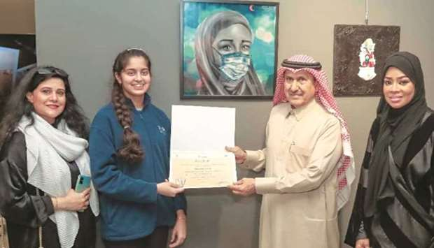 Blyth Academy student's artwork gets recognition at Katara expo