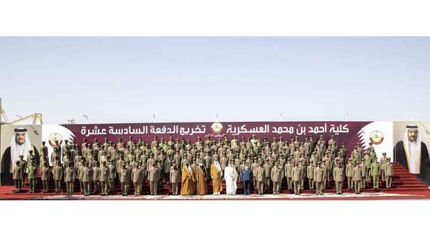 Amir patronises graduation ceremony of Ahmed bin Mohammed Military College