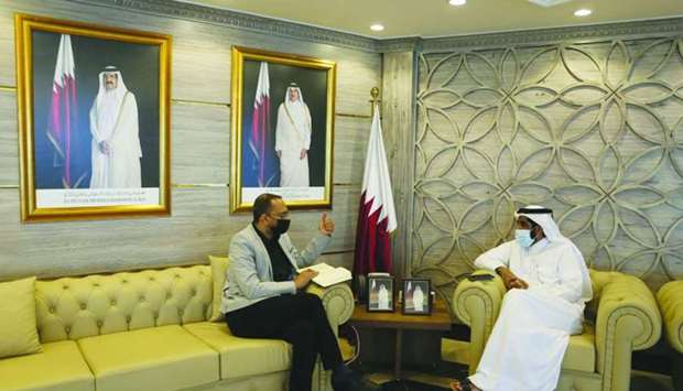 HE the President of the Planning and Statistics Authority Dr Saleh bin Mohamed al-Nabit being interv