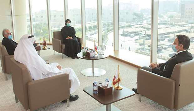HE the Minister of Public Health Dr Hanan Mohamed al-Kuwari on Monday  meets the first two recipient