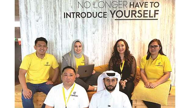 Seated from left: CEO and co-founder Michael Javier and COO and Qatari co-founder Abdulmohsin Alyafe