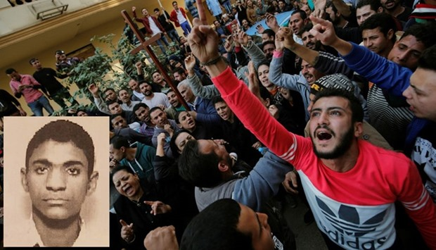 Egypt church blast protest and alleged bomber