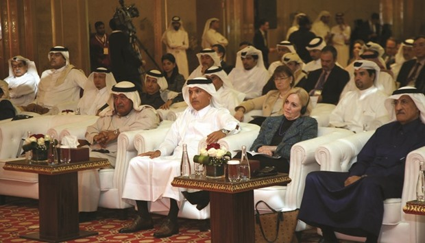 QATAR: HE Al-Emadi and other dignitaries during the '2nd Annual US-Qatar Economic and Investment Dialogue' held in Doha