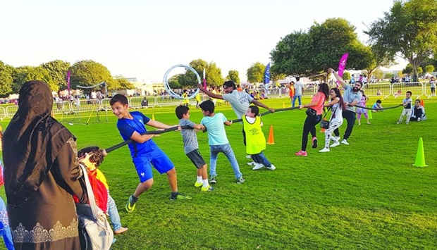 AZF recreational activities at Aspire Park