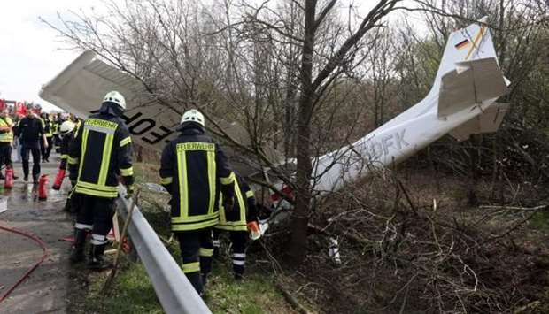plane crashed into a forest in Ravensburg