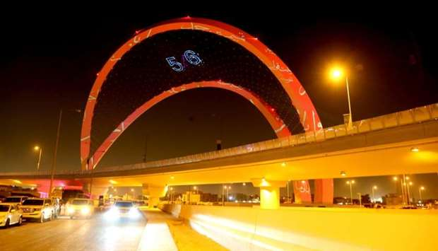 One of the most prominent architectural monuments in Doha, the arches of Interchange 5/6, was launch
