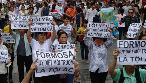 Public outrage over a possible toxic leak by Formosa steel plant