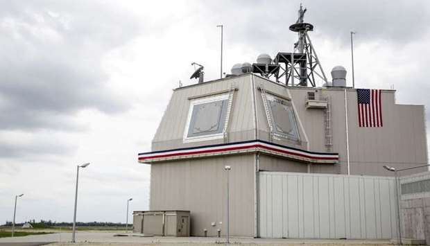 The deckhouse of the Aegis Ashore Missile Defense System (AAMDS)