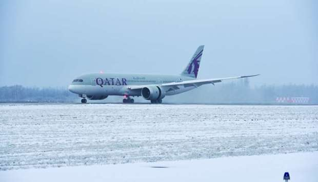 Qatar Airways flight QR279, operated by the state-of-the-art Boeing B787 Dreamliner, arrived at Pulk