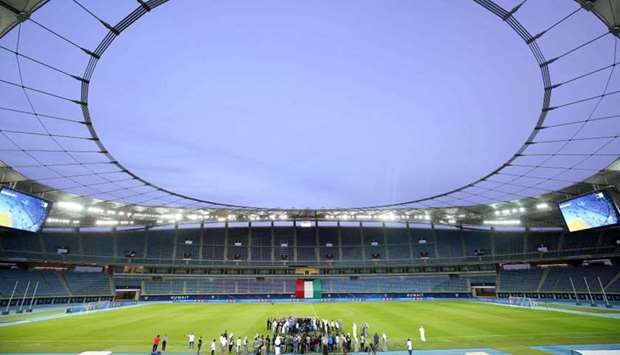 A general view of the Sheikh Jaber Al-Ahmad International Stadium in Kuwait City, one of the venues