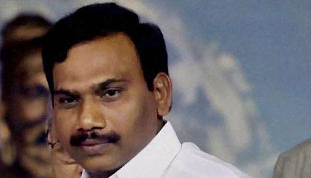 former telecoms minister A. Raja