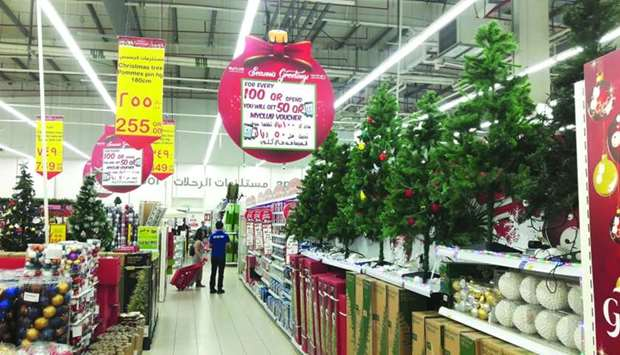 Shelves hypermarkets are being filled with various decorative and fancy items, a majority of which w