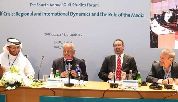 Experts at the panel discussion.- Gulf Studies Forum